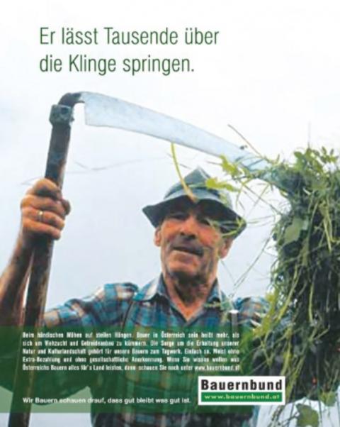 der Bauernbund zeigt Landwirte