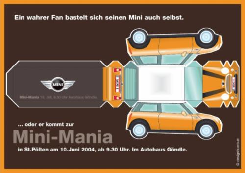 MINI - Händlermarketing für MINI-Event, Dei Mini-MINI für Dich